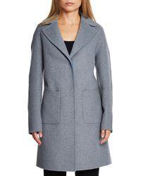 Dawn Levy - Cece Reversible Wool Coat W/ Removable Fur - Lyst