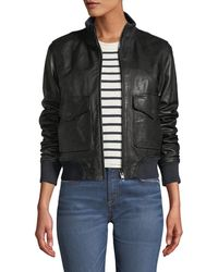 Rag & Bone - Mila Zip-front Leather Jacket - Lyst