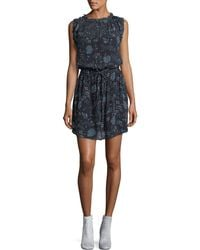 Velvet - Raelyn Round-neck Floral-print Dress - Lyst