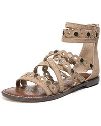 b1de85068e32 Lyst - Liebeskind Metallic Leather Caged Slingback Sandals in Metallic