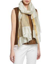 Eileen Fisher - Handloom Gauzy Silk Wrap - Lyst
