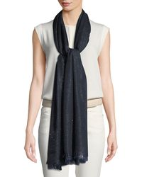 Loro Piana - Duo Crystal Metallic Stole - Lyst