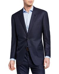 Giorgio Armani - Men's Plaid Super 180s Wool Two-piece Suit - Lyst