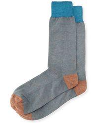 Neiman Marcus - Colorblock Cotton Socks - Lyst