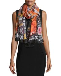 Givenchy | Paradise Flowers Cashmere-silk Scarf | Lyst