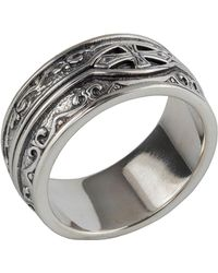 Konstantino | Men's Sterling Silver Cross Ring | Lyst