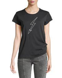 Givenchy - Lightning-bolt World Tour Crewneck Short-sleeve Cotton Jersey T-shirt - Lyst