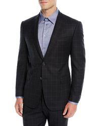 Emporio Armani - Men's Windowpane Wool Two-piece Suit - Lyst