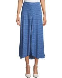 Velvet - Titania Printed A-line Midi Skirt - Lyst