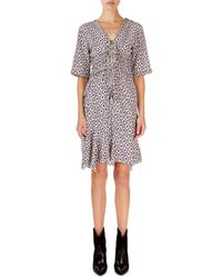 f7315cad6a22 Isabel Marant - Arodie Abstract-floral Zip-front Dress - Lyst