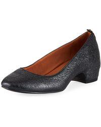 Gentle Souls - Priscille Crinkled Metallic Leather Low-heel Pumps - Lyst
