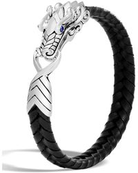 John Hardy | Men's Legends Naga Dragon Leather Dragon Bracelet | Lyst