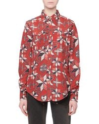Isabel Marant - Techno-pattern Button-front Long-sleeve Blouse - Lyst