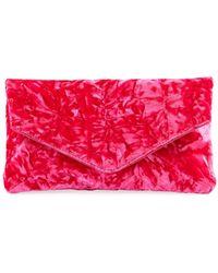 Dries Van Noten - Crushed Velvet Clutch Bag - Lyst