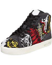 Haculla Personne Est Top Sneakers Sécurité Graphique Haut - Noir HBa9Cbua