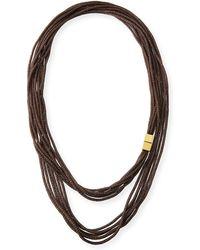Lafayette 148 New York | Tea Long Mesh Necklace | Lyst