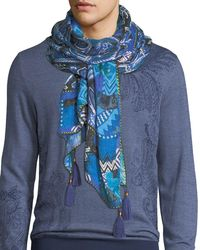 Etro | Sciarpa Shaal Nur Paisley Scarf With Tassels | Lyst
