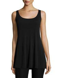 Eileen Fisher | Long Silk Jersey Tunic | Lyst