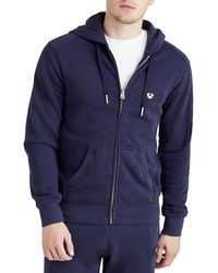 True Religion | Hooded Horseshoe Jet Sweatshirt | Lyst