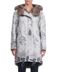 Gianfranco Ferré - Reversible Fur-lined Embroidered Stroller Coat - Lyst