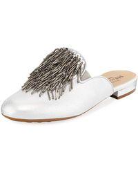 Sesto Meucci - Kala Embellished Metallic Leather Mule - Lyst