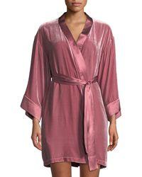 Vivis - Dany Velour Short Robe - Lyst