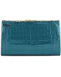 f7f8f264417a Nancy Gonzalez - Colette Crocodile Slim Exposed-frame Clutch Bag - Lyst