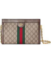 21f9794d4ff Gucci - Linea Dragoni Small GG Supreme Canvas Chain Shoulder Bag - Lyst
