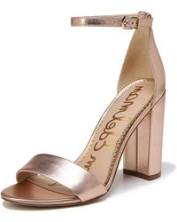 a0e13dd3cda9 Sam Edelman - Yaro Metallic Block-heel Sandal - Lyst