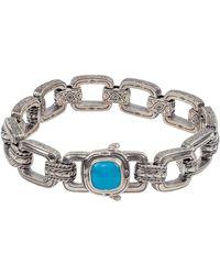 Konstantino - Men's Sterling Silver & Turquoise Link Bracelet - Lyst