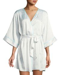 Kate Spade - Dotted Satin Bridal Robe - Lyst
