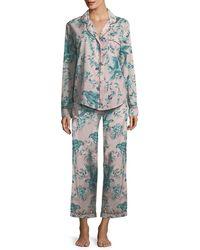Desmond & Dempsey - Parrots Long Pajama Set - Lyst