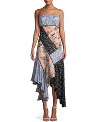 Cinq À Sept - Sabrina Strapless Floral Patchwork Dress - Lyst