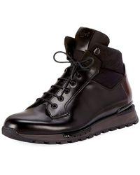 Berluti - Men's Glazed Calf Leather Hiking Boots - Lyst