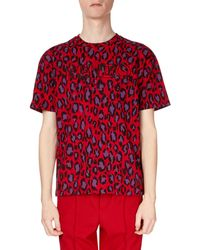 KENZO - Men's Neon Leopard-print T-shirt - Lyst