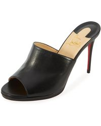 Christian Louboutin - Pigamule 100mm Napa Red Sole Slide Sandal - Lyst