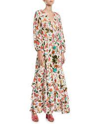 Figue - Frederica Paradise Batik-print Long Wrap Dress - Lyst