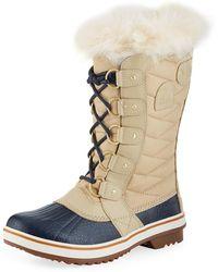 Sorel - Tofinotm Ii Fur-trim Quilted Boots - Lyst
