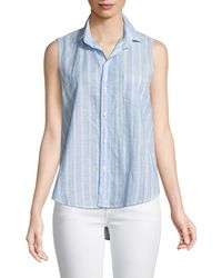 1a52df9a Neiman Marcus · Frank & Eileen - Fiona Sleeveless Striped Button-down Shirt  - Lyst