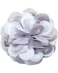 Hook + Albert - Large Two-tone Whittier Lapel Flower - Lyst
