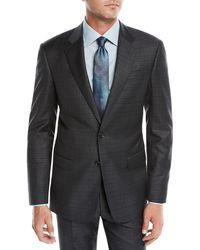 Giorgio Armani - Men's Tonal Plaid Two-piece Wool Suit - Lyst