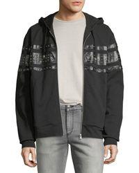 Just Cavalli - Men's Grommet-detail Zip-front Hoodie Sweatshirt - Lyst