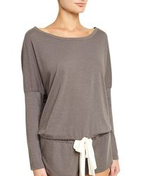 Eberjey - Heather Slouchy Drawstring Lounge Tee - Lyst