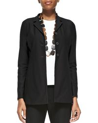 Eileen Fisher - Washable-Crepe Long Jacket - Lyst