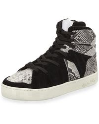 7464f0860e8 Haculla - Men s Henri High-top Sneakers With Python-print Trim - Lyst