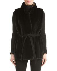 Gorski | Mink Fur Vest With Suede Belt | Lyst