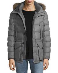Moncler - Rethel Fur-trim Puffer Coat - Lyst