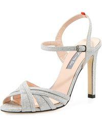 SJP by Sarah Jessica Parker - Cadence Sparkle Glitter Sandal - Lyst