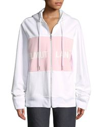 Helmut Lang - Shayne Oliver Campaign-print Terry Zip-up Jacket - Lyst