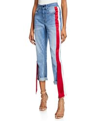 Hellessy - Distressed Satin-side Jeans - Lyst